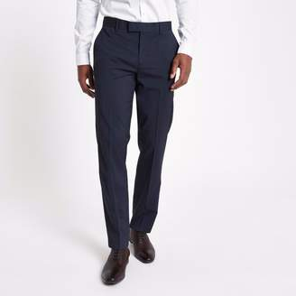 River Island Mens Navy tailored suit trousers