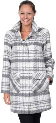 Fleet Street Women's Plaid Cocoon Wool-Blend Coat