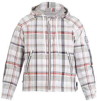 Moncler Gamme Bleu Checked Hooded Cotton Blend Jacket - Mens - Multi