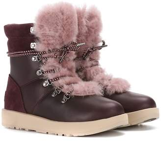 UGG Viki wool-lined leather ankle boots