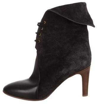 Chloé Suede Lace-Up Ankle Boots
