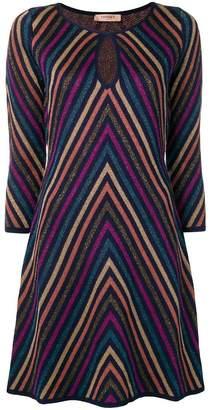 Twin-Set zig-zag stripe dress
