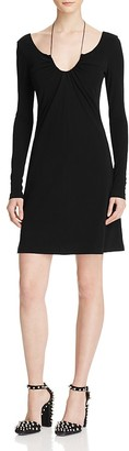 T by Alexander Wang Gathered Tie Jersey Dress $425 thestylecure.com