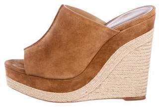 Michael Kors Suede Wedge Slide Sandals