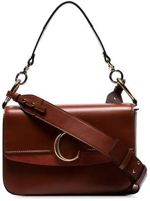 e4092891fc85 Chloé sepia brown medium C ring leather shoulder bag