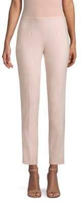 Michael Kors Solid Pebble Crepe Wool Pants