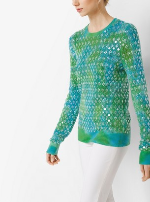 Michael Kors Embroidered Cashmere Pullover