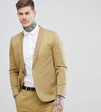 Religion Straight Suit Jacket In Cotton In Camel