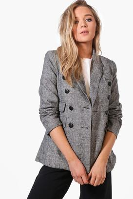 boohoo Sarah Premium Check Tailored Blazer multi