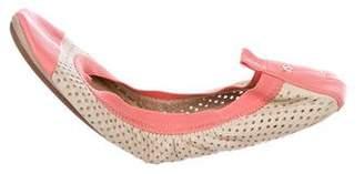 Yosi Samra Perforated Ballet Flats