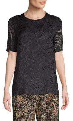 ADAM by Adam Lippes Textured Short-Sleeve Top