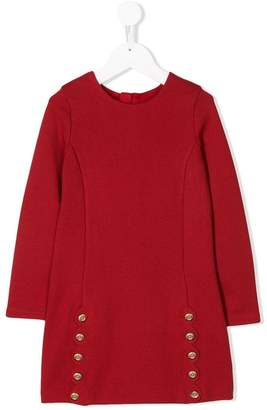 Chloé Kids scallop trim jersey dress