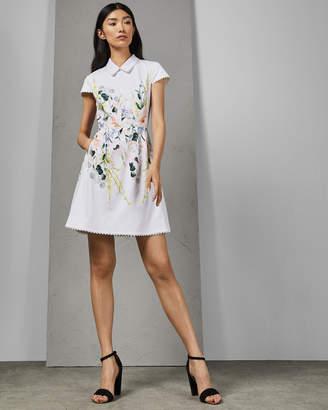 Ted Baker CHARSY Elegant scallop ponte dress