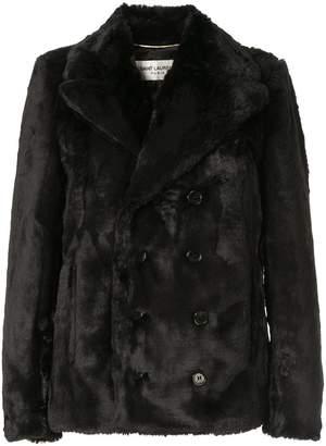 Saint Laurent faux fur coat