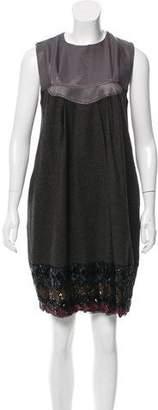 Etro Sequin-Embellished Wool Dress