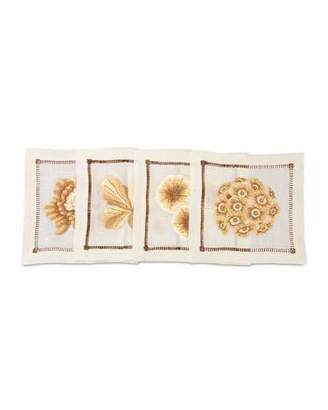 Jay Strongwater Floral Cocktail Napkins, 4-Piece Set