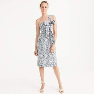 J.Crew One-shoulder tie dress in Liberty® Claire-Aude floral
