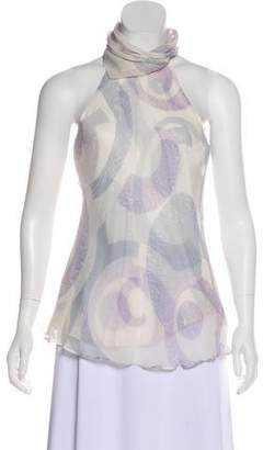 Agnona Silk Sleeveless Top