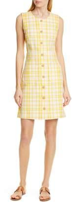 Tory Burch Plaid Jacquard Dress