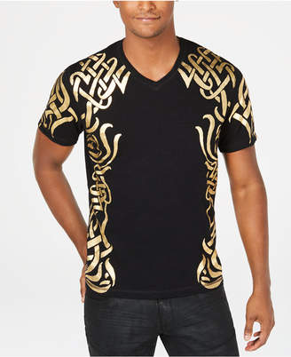 INC International Concepts I.n.c. Men's Gold Foil T-Shirt, Created by Macy's