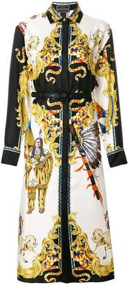 Versace Native American baroque shirt dress