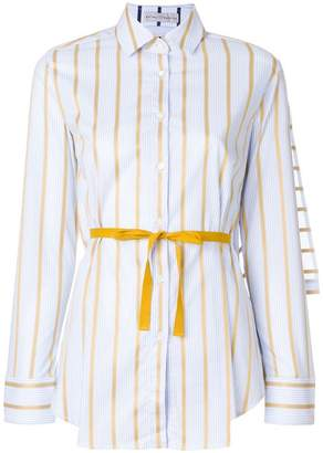 Palmer Harding Palmer / Harding striped belted shirt