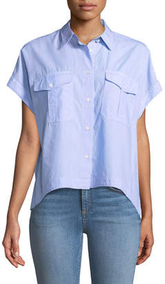Rag & Bone Pearson Button-Down Short-Sleeve Cotton Shirt