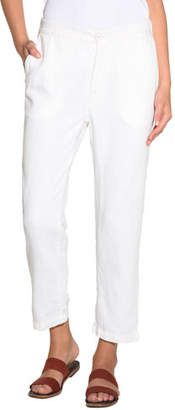 Eleventy Linen-Blend Capri Pants