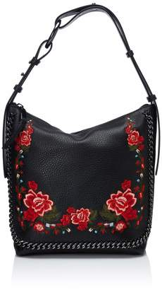 bd27cc1d19c7 at Amazon Canada · Calvin Klein womens Liana Pebble Leather Floral  Embroidery Belted Top Zip Slouchy Hobo, floral