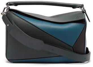 abad5382d8 Loewe Puzzle Tri Colour Leather Bag - Womens - Blue Multi