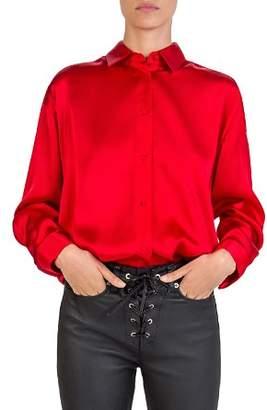 The Kooples Silk Beaded Envie Shirt