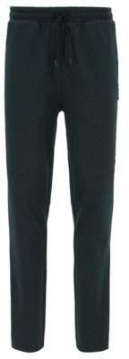BOSS Hugo Slim-fit mouline jersey pants tape details L Dark Green