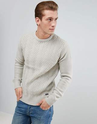 Brave Soul Cheveron Stripe Crew Knit Sweater