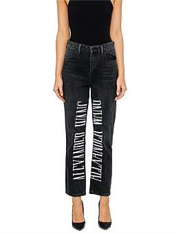 Alexander Wang Cult Jean With Logo Embroidery