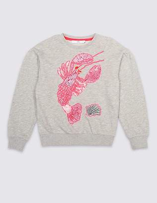 Marks and Spencer Lobster Sequin Sweatshirt (3-16 Years)