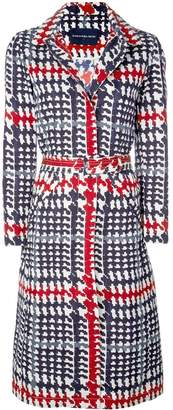 Samantha Sung Parisienne plaid hooded coat