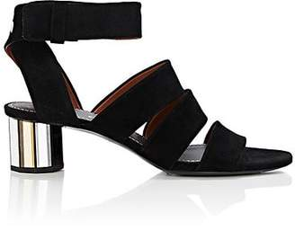 Proenza Schouler Women's Mirrored-Heel Suede Sandals - Black
