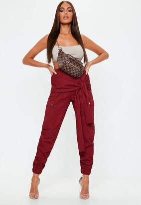 Missguided Tie Waist Utility Trousers