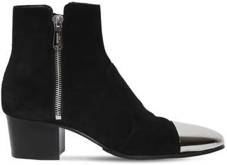 Balmain 55mm Karen Leather, Metal & Suede Boots