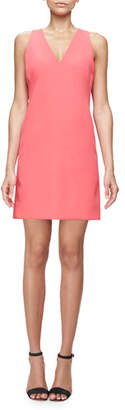 Milly Sleeveless Modern V-Neck Sheath Dress, Rose $345 thestylecure.com