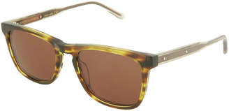 Bottega Veneta Square Acetate Keyhole Sunglasses
