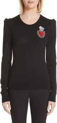 Dolce & Gabbana Sacred Heart Wool & Silk Blend Sweater