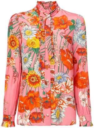Gucci ruffled floral shirt
