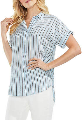 Vince Camuto Canopy Striped Dolman-Sleeve Henley
