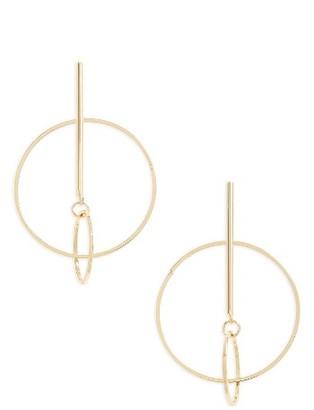 Women's Cara Double Hoop Drop Earrings $22 thestylecure.com