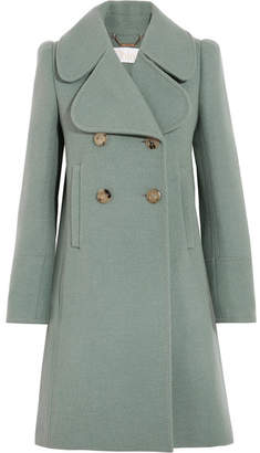 Chloé - Double-breasted Wool-blend Felt Coat - Green