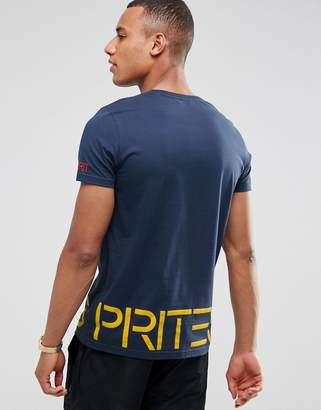Esprit T-Shirt With Large Logo In Organic Cotton
