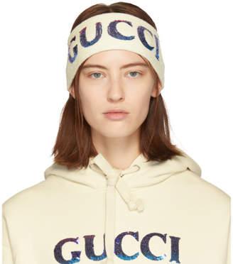 Gucci (グッチ) - Gucci マルチカラー シークイン ヘッドバンド and リストバンド セット