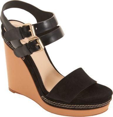 Chloé Double Ankle Strap Wedge Sandal