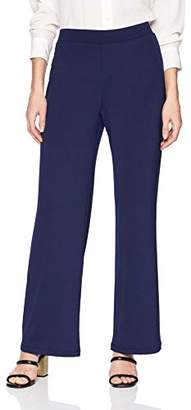 Kasper Women's Pull on Wide Leg Ribbed Knit Pant